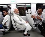 PM Modi travels in Delhi metro