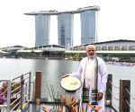 Modi unveils Mahatma Gandhi's plaque in Singapore