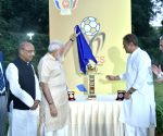 PM Modi unveils BRICS U-17 Football Tournament-2016 Trophy