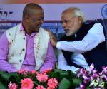 Modi with Hagrama Mohilary