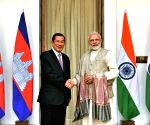 PM Modi, Cambodian PM at Hyderabad House