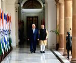 PM Modi with Israel President Reuven Rivlin at Hyderabad House