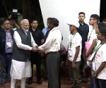 ISRO Centre - Modi with K Sivan