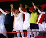 PM Modi during a public rally in Maharashtra