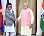 Narendra Modi, Nepalese PM at Hyderabad House