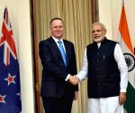 Modi meets John Key at Hyderabad House