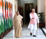 Modi, Hasina meet at Hyderabad House