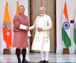 PM Modi meets Bhutan PM at Hyderabad House