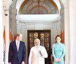 Modi meets Duke and Duchess of Cambridge