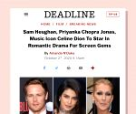 Priyanka Chopra in Hollywood rom-com with Celine Dion, Sam Heughan