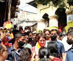 Free Photo: GUWAHATI: Priyanka Gandhi Vadra arrived in Guwahati and visited the Maa Kamakhya Temple on Monday