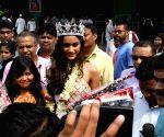 Miss India runner-up Priyanka Kumari at Patna airport