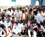 Demonstration over Cauvery water dispute