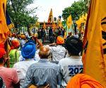 Pro-Khalistan Sikhs hold protest with Pakistanis outside UN on Kashmir