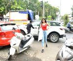 Khushi Kapoor seen at Mumbai's Bandra