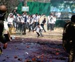 Protesters pelt stones on security personnel