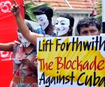 SRI LANKA COLOMBO US CUBA PROTEST