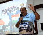 Rally driver Sanjay Takale during a programme