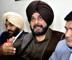 Navjot Singh Sidhu, Gurjeet Singh Aujla during a press conference