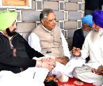 Punjap CM visits grief struck family of Kulwinder Singh