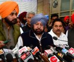Punjab CM Amarinder talks to press