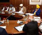 Punjab CM Amarinder Singh presiding over cabinet meeting