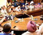 Punjab CM talks to press