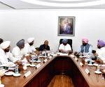 Punjab CM during cabinet meeting
