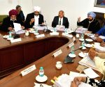 Amarinder Singh during cabinet meeting