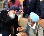Punjab Chief Minister Parkash Singh Badal listens to public grievance