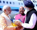 Modi arrives at Amritsar airport