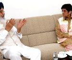 Parkash Singh Badal with Kiran Bedi