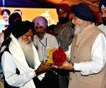 Punjab CM during semi-centennial celebrations of Punjabi Suba