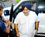 Parkash Singh Badal & Sukhbir Singh Badal at Punjab Assembly