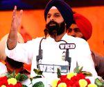 Bikram Singh Majithia addresses during an election campaign