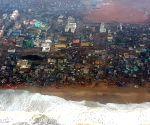 Puri (Odisha): Cyclone Fani - Vice Admiral Karambir Singh undertakes aerial survey of cyclone affected areas