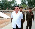 Kim Jong Un giving field guidance to the construction site of the Yonphung Rest Home for Scientists