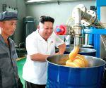 Kim Jong Un inspecting Chonji Lubricant Factory
