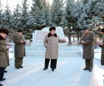 DPRK-KIM JONG UN-LARGE COMBINED UNIT 380 OF KPA-HEADQUARTERS-INSPECT