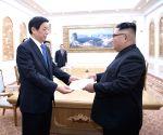 DPRK PYONGYANG LI ZHANSHU KIM JONG UN MEETING