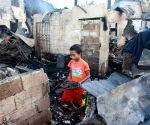 PHILIPPINES QUEZON CITY FIRE AFTERMATH