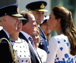 Prince William and wife Kate at the RAAF Base Amberley in Brisbane