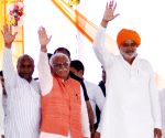 Khattar during a public meeting