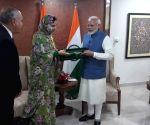 Morocco's Rakiya Eddarhem meets PM Modi