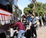 ISRAEL RAMAT GAN CHINESE STUDENTS EVACUATION