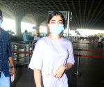 : Rashmika mandana spotted at airport departure