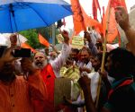 Rashtrawadi Shivsena's demonstration against 'Alishan Pakistan'