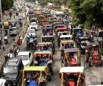 Tejashwi seeks rollback of agri Bills, leads 'tractor march