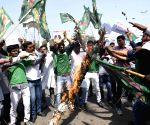 RJD demonstration against attacks on Indians in the US