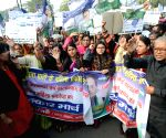 RLSP protests against college girl's gang-rape
